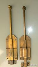 "2 flush BOLT french old age style doors furniture heavy brass slide 11"" bolts B"