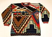 PERUVIAN CONNECTION Alpaca Sweater L Womens  Vintage Art to Wear MINT!