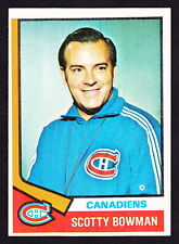 New listing 1974-75 TOPPS #261 SCOTTY BOWMAN CANADIENS ROOKIE