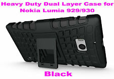 Black Strong Durable Heavy Duty Tradesman TPU Case Cover for Nokia Lumia 929/930