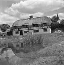 B/W 6x6 Negative Oakley Hampshire Village Scene 1952 +Copyright Z897