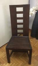 sedia in legno venghe schienale alto
