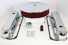 SB Chrysler Chrome Engine Dress Up Kit Valve Covers Red Washable Air Cleaner 318