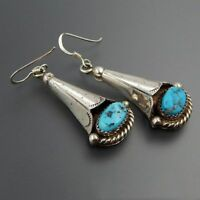 Elegant 925 Silver Turquoise Woman Dangle Earrings Party Wedding Jewelry Gifts