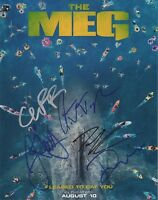 "THE MEG Cast x5 Authentic Hand-Signed ""Cliff Curtis"" 11x14 Photo"