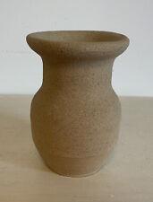 VINTAGE STUDIO POTTERY BUD VASE- Bisque Stoneware- Signed Patricia Evans 11cm