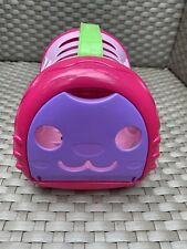 Pink Plastic Girls Cat Carrier Purse Used