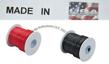 18 AWG 200 FEET PRIMARY WIRE RED AND BLACK INSULATED COPPER STRANDED Made in USA