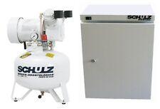 SCHULZ DENTAL/ MEDICAL AIR COMPRESSOR - OIL FREE - 1HP + CABINET