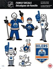 NHL EDMONTON OILERS STICK PEOPLE FAMILY DECALS ~ FULL COLOR VINYL DECALS