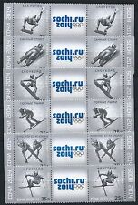 RUSSLAND RUSSIA 2012 WINTER OLYMPIC GAMES SOCHI 2014 PAIRS WITH LABEL SPORT MNH