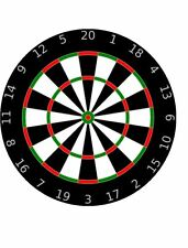 "DARTS - 7.5"" Round ICING Cake Topper - Free Delivery - CAN BE PERSONALISED"