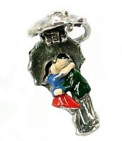 VINTAGE SILVER OPENING KISSING COUPLE CHARM