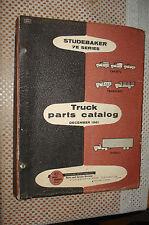 1962 Studebaker Truck Parts Catalog Parts Numbers Book Rare 7 E Series 7E