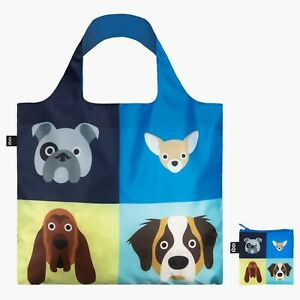 LOQI DOGS Animal Images Tote bag by Artist S Cheetham Eco-friendly canvas Bag,