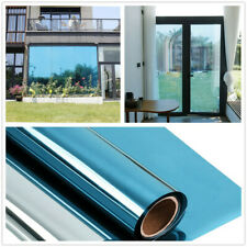 One-way Glass Self Adhesive Mirror window Film Blue Reflective Insulated Foil