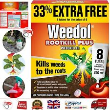 Weedol Rootkill Plus Weedkiller Liquid Concentrate 6 Plus 2 Tubes Free Fast Act