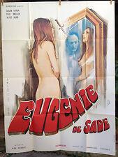 cinema-affiche originale- EUGENIE DE SADE -Jesus Franco - porn porno - 120x160
