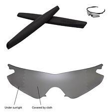 Walleva Polarized Transition Replacement+Black Earsocks 4 Oakley M Frame Heater