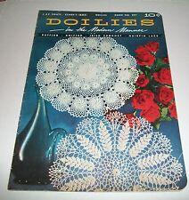 VINTAGE PATTERN LEAFLET BOOK 1953 COATS CLARKS CROCHET DOILIES MODERN MANNER 297