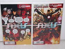 AXIS #1 - Deadpool Variant + Reg Cvr -REMENDER Kubert- AVENGERS X-MEN -Onslaught