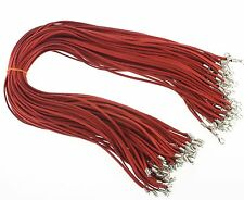 Wholesale Bulk lot 10 pcs red Suede Leather String 20 inch Necklace Cords New