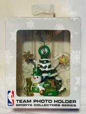 Boston Celtics Team Photo Holder Christmas Tree Holiday Snowman NBA Collectible