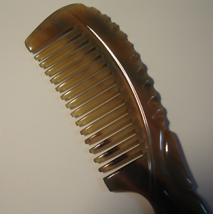 Curly-wavy hair Buffalo Horn Comb. Smooth wide gap tooth Anti Static Comb