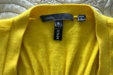 VINCE Thin Knit Yellow Long Sweater Vest Size M