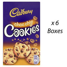 CADBURY CHOC CHIP COOKIES 150g x 6 BOXES CHOCOLATE BISCUITS WHOLESALE 160322