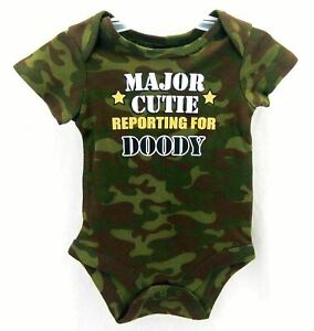 Boys Short Sleeve One Piece Outfit Camo Size 0-3 Months