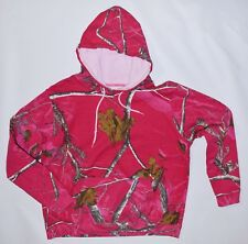 "REALTREE HOT PINK CAMO MAX-1  HOODIE PULLOVER W""S LARGE NWOT 50% COTTON"