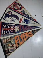 Pennant Lot 4 MLB NBA NHL Vintage Philadelphia Phillies 76ers Flyers 90s