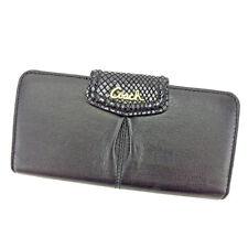 Auth COACH Zip purse Python Embossed Unisexused T3986