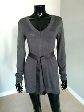 Twin-Set by Simona Barbieri designer tunic long jumper grey silk blend sz. S