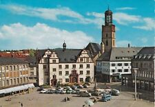 Darmstadt Marketplace Germany Posted 1962 Postcard used VGC