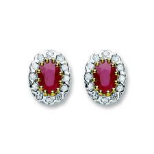 Unbranded Stud Ruby Fine Earrings