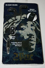 Tupac Shakur Rap Group In Ear Buds w/ Collectible Pouch New NOS 2012