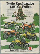 1978 SUZUKI MINI BIKES advertisement, DS-80, DS-100, RM-50, RM-80, JR-50