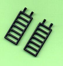 Lego--6020 --Zaun--Leiter-- Treppe-- 7 x 3 -- Mit 2 Clips --Schwarz--2 Stück