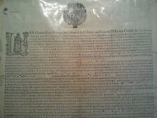 RARE GRAND PLACARD / AFFICHE XVIIe COMMISSAIRES DIOCÈSE ALBI 1653 sous LOUIS XIV