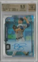 bowman chrome refractors buck farmer autograph graded bgs 9.5 rookie card /499
