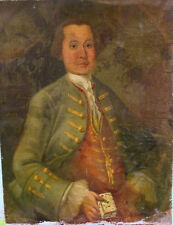 Portrait de gentilhomme Epoque milieu XVIIIème Ecole française HST