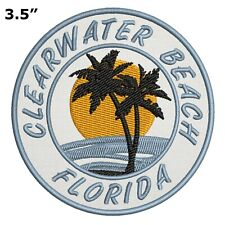 Clearwater Beach Florida Embroidered Patch Iron / Sew-On Motif Souvenir Applique