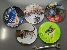 New listing Cat drink coaster set, with drinking cats and sparkles