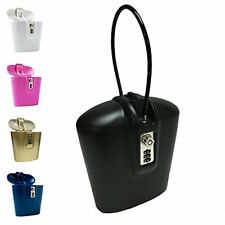 Safego Portable Indoor Outdoor Lock Box Safe Key Combination Access Black