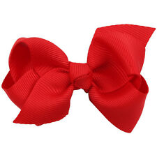 2pcs Grosgrain Ribbon Large Hair Bows With Clip For Baby GIRL HAIR CLIPS