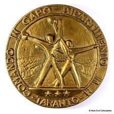 Comando in Capo Taranto-Marina Militare Italian BRONZE Tampion Badge Crest