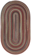 Capel Rugs Portland Wool Casual Country Braided Oval Area Rug Black 300
