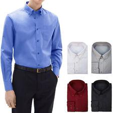 Camicia Uomo Cotone Button Down Con Taschino Regular Fit Comoda Casual VEQUE
